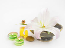 Spa still life with lily royalty free stock photo