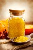 Spa still life - Orange bath salt Stock Photo