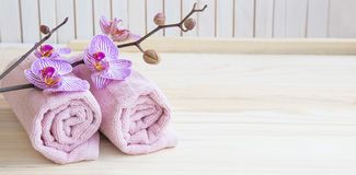 Spa still life with orchid Royalty Free Stock Photos