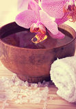 Spa still life with orchid Royalty Free Stock Images