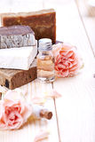 Spa still life with pink rose Stock Photography