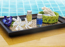 Spa still life at pool Stock Photo