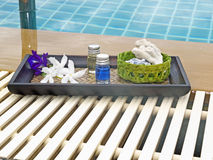 Spa still life at pool Stock Photography