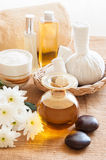 Spa still life in relaxing spa setting. Royalty Free Stock Photos