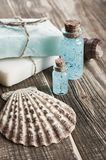 Spa still life with seashells Stock Photo