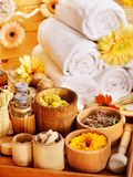Spa still life  with towel. Stock Images