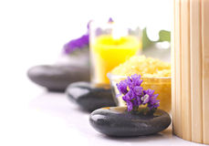 Spa  still life with violet Stock Photos