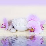 Spa Still Life with Water Reflection Stock Image