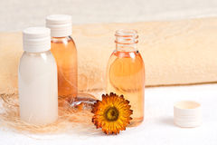 Spa Still Life With Essential Oils Royalty Free Stock Photography