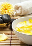 Spa Still-Life with Yellow Rose Stock Images