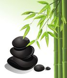 Spa still life with zen stone and bamboo Royalty Free Stock Image