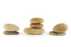 Spa stone. Groups of spa stone on the white background Stock Photo