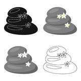 Spa stone icon of vector illustration for web and mobile Stock Image