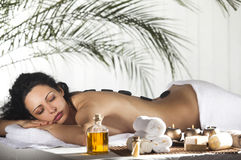 Spa Stone Massage Royalty Free Stock Photo