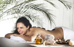 Spa Stone Massage Stock Photos