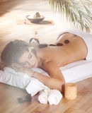 Spa Stone Massage Royalty Free Stock Photography