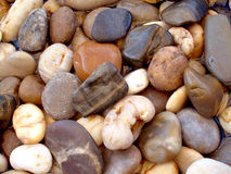 Spa stones. Multi colored spa stones in a shallow pool Royalty Free Stock Photography