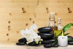 Spa stones. Background alternative flower white cutout zen Stock Photo