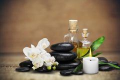 Spa stones. Background alternative flower white cutout zen Stock Photos