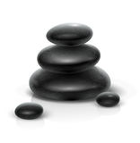 Spa stones black heap Stock Image