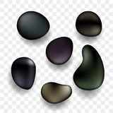SPA stones 3D realistic Zen icons stock illustration