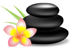 Spa stones and flower Royalty Free Stock Images