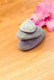 Spa stones and flowers, wellness/beauty care Royalty Free Stock Photos