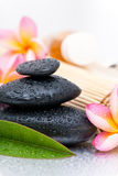 Spa stones and Frangipani Stock Image