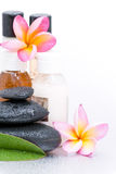Spa stones and Frangipani Royalty Free Stock Photography