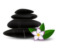 Spa stones and  frangipani flower Royalty Free Stock Photos