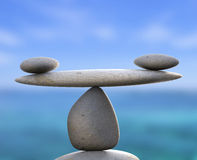Spa Stones Indicates Healthy Equality And Calmness Royalty Free Stock Photo