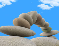 Spa Stones Indicates Relax Wellness And Equilibrium Royalty Free Stock Photos