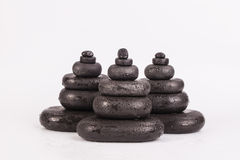 Spa stones isolated on white Royalty Free Stock Image