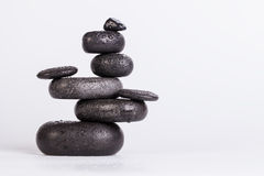 Spa stones isolated on white Royalty Free Stock Photography