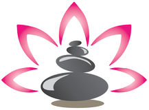 A spa stones logo Royalty Free Stock Images