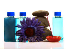 Spa stones and lotions Stock Image