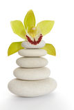 Spa stones and orchid Stock Images
