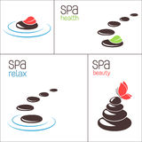 SPA stones and pebbles stock illustration