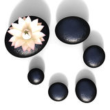 Spa Stones Represents Peaceful Spirituality And Blooming Stock Images