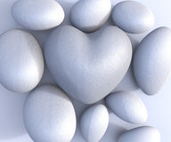 Spa Stones Represents Valentines Day And Health Royalty Free Stock Photos