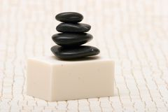 Spa stones and soap Stock Photo