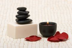 Spa stones and soap Stock Image