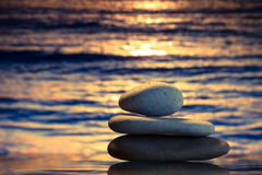 Spa stones at sunset royalty free stock images