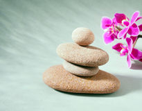 Spa stones treatment scene, zen like concepts Royalty Free Stock Images