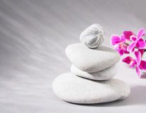 Spa stones treatment scene, zen like concepts Royalty Free Stock Photography