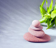 Spa stones treatment scene, zen like concepts Stock Images