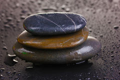 Spa stones with water drops Royalty Free Stock Photos