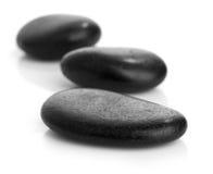 Spa stones  on white background Stock Photos