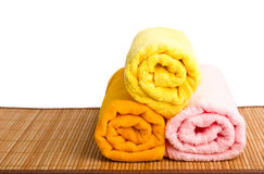 Spa style Towel with Bamboo Stock Image