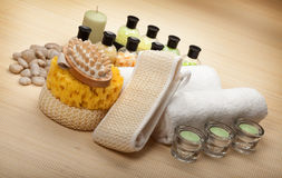 Spa supplies Royalty Free Stock Photos